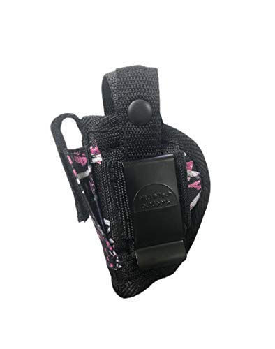 Muddy Girl Belt or Clip on Holster. This Pink Gun Holster Fits 1'' to 2.75'' Barrel Small Frame Autos. Beretta 20-21 Tomcat 3032-32 acp 20- Keltec P32-.380AT-Jennings J-22,J-25,ruger LCP 380