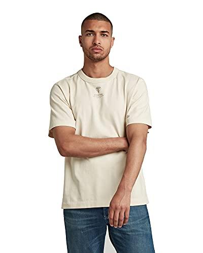 G-STAR RAW D19894 Camiseta, Color Crudo C784-159, M para Hombre