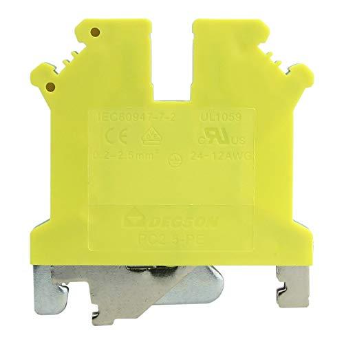 Schutzleiterklemme Reihenklemme 2.5mm2 gelb-grün VDE UL DGN 3398