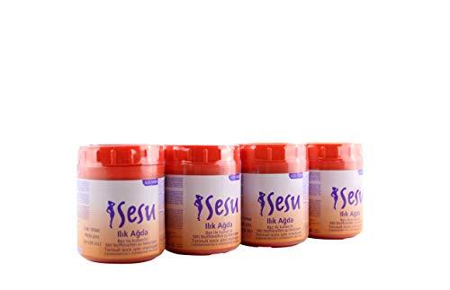 Sesu Zuckerwachs für Enthaarung und Waxing, orange Warm-Wachs Zuckerpaste 4X 250 g