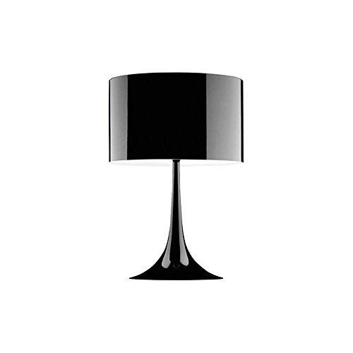 Flos Spun Light T1 Lampe de table noire brillante 220 Volt