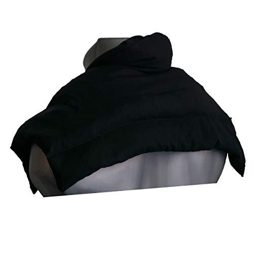 Wärmekissen Nacken: Rapssamenkissen Schulter & Nackenkissen mit Kragen. Wärmekissen Körnerkissen Nackenwärmer Heizkissen für Mikrowelle und Backofen (Farbe: dunkelblau, Rapssamen)
