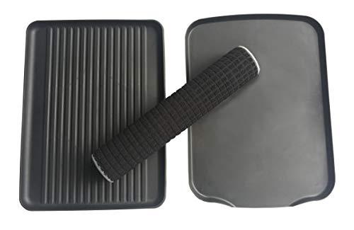 PremiumRacks Professional Dish Rack - 304 Stainless Steel - Fully Customizable - Microfiber Mat Included - Modern Design - Large Capacity