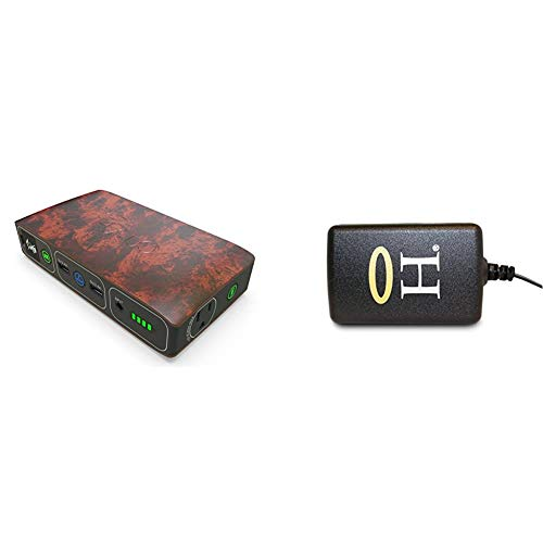 HALO Bolt 58830 mWh Portable Phone Laptop Charger - Wood Grain & Bolt Wall Plug AC Charge Adapter for HALO Bolt 57720, Bolt 58830, Bolt ACDC Wireless, Bolt Air Portable Ul Approved (126510), Black