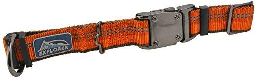Coastal Pet K9 Explorer Reflective Adjustable Dog Collar Large, 18' to 26' by 1', Campfire Orange Color (1-Unit)