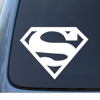 Aufkleber / Autoaufkleber / Sticker / Decal SUPERMAN - 127mm WHITE DECAL - DC Comics - Car, Truck, Notebook, Vinyl Decal Sticker
