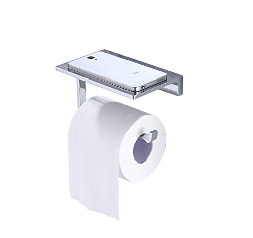 Top 10 best selling list for solid brass hotel toilet paper holder with phone shelf chrome