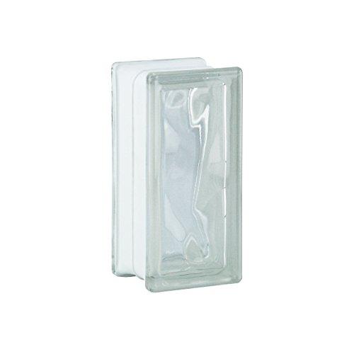 6 piezas BM bloques de vidrio nube SUPER white 19x9x8 cm - Medio bloque de vidrio