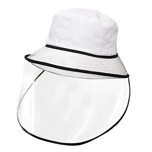 TWISFER Unisex Schutzhut Staubdichte Abdeckung Fischer Abnehmbarer Mützenhut UV-Schut Sonnenhut Fischer Hut mit Outdoor Antibeschlag-Bildschirm