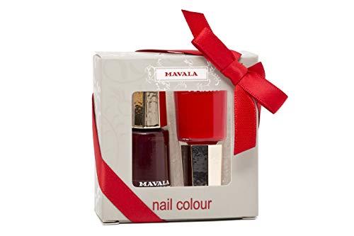 MAVALA Nagellack Dark Red und Rouge Noir Color Set, 2-teilig