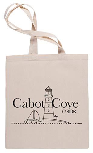 Cabot Cove, Maine - Murder She Wrote Borse per La Spesa Tote Beige Shopping Bag