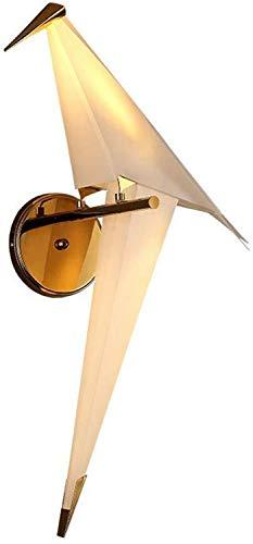 Modern LED wandlamp stijlvol creatief vogel design wandlamp Origami papieren kraan zwaaien metaal acryl lampenkap binnen slaapkamer Bedside verlichting lampen wandlamp LED 12W goud [energiekl