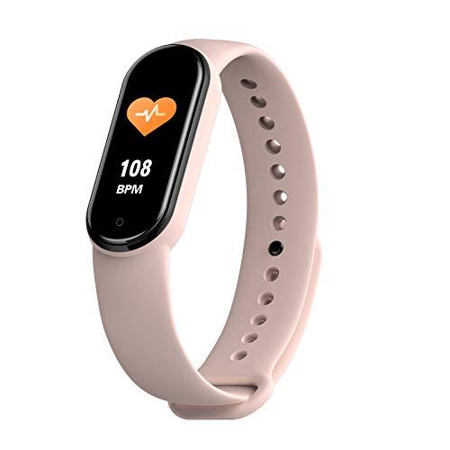 Pulsera Inteligente M30 Fitness Tracker Reloj Deportivo Multilingüe Hombre Y Ritmo Cardíaco para Mujeres Y Pulsera De Presión Arterial para Android iOS,A