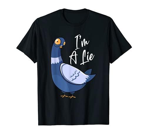 Gli uccelli non sono veri droni cospirazione teorici carino spie Maglietta