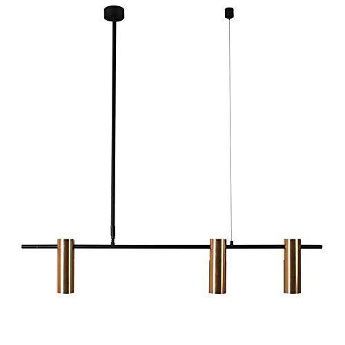 Home Equipment GU10 Luz de 3 luces Colgante de hierro de aluminio de lujo Lámpara colgante Nordic Modern Creative Hanger Chandelier Restaurante Sala de estar Cafe Villa Home Dormitorio Lámpara de t