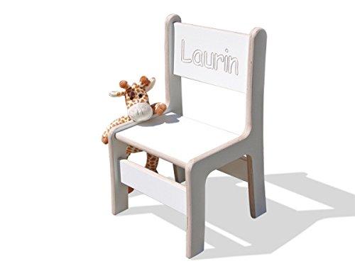 Eli bambini figli di sedia Bianco con namensfraesung