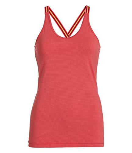 PiP Studio Damen Top Pyjama Oberteil Top Sleeveless Talya Stripers, Farbe:Rot, Wäschegröße:M, Artikel:pink