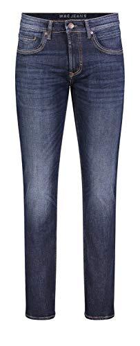 MAC Jeans Herren Arne Pipe Jeans, Dark Blue Authentic Used 3D Baffies, 42/30