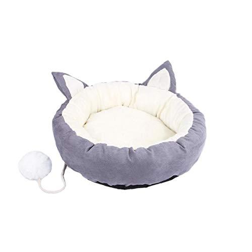 MaylFre Hundebett Super Soft Pet Schlafsofa Angebote Kopf-Hals-Und Joint Support Premium-Bettwäsche Für Katzen Oder Kleine Hunde Grau XL
