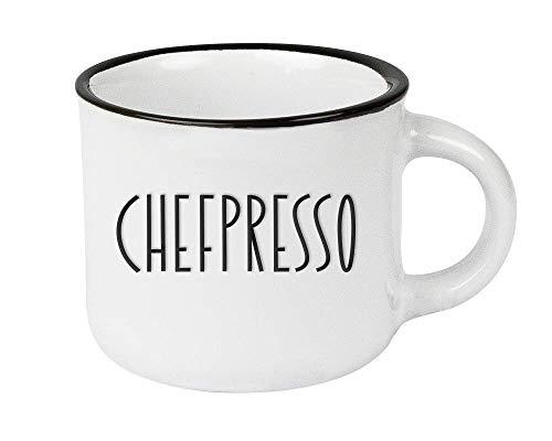 Espressotasse vintage| Mini Keramik Becher zum verschenken | 95 ml | Chefpresso
