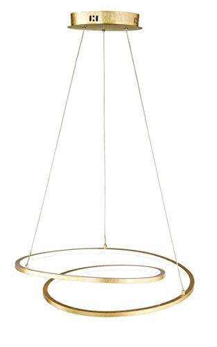 WOFI Pendelleuchte, Metall, Integriert, 8.3 W, Goldfarbig, 48.5 x 48.5 x 1500 cm