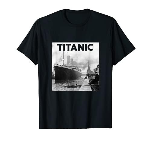 Titanic Ship 1912 - Póster de desastre del mar del fregadero del océano Atlántico Camiseta