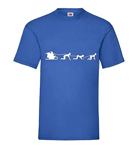 Weihnachtsschlitten mit Doggy Style Engel 2.0 Männer T-Shirt Royal Blau XXL - shirt84.de