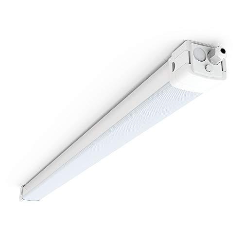 LED Feuchtraumleuchte 150cm 60W mit 7200LM für Keller Garage Werkstatt Warenhaus, Tonffi LED Wannenleuchte Feuchtraumlampe Werkstattlampe Röhre, Neutralweiß 4000K Wasserfest IP66