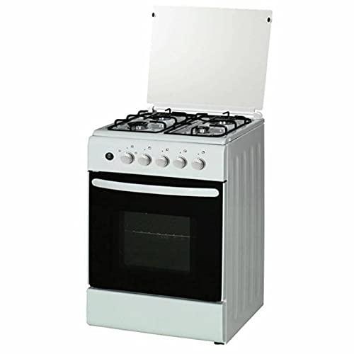Cocina Hausberg Classic Hb-008Ab 4 Quemadores De Gas, Encendido Eléctrico, Los 50X60Cm, White