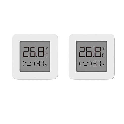 per Xiaomi Mi Igrometro Termometro Digitale Termometro Bluetooth Misuratore di Umidità e Temperatura Interno per Casa Professionale per Misura Stanza (2 pcs)