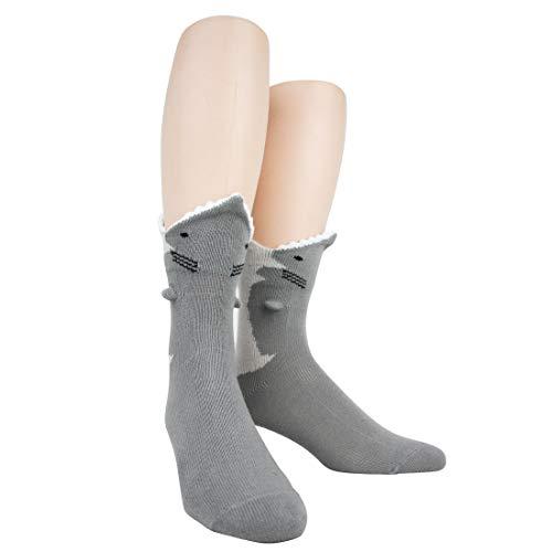 Foot Traffic Men's 3D Socks, Great White (Shoe Sizes 7-12)
