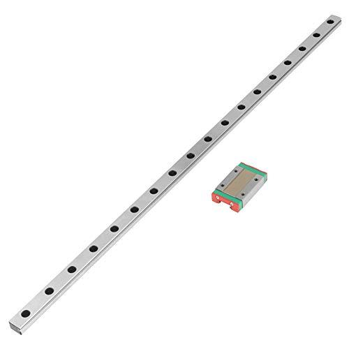 【2021年お正月スペシャル】リニアスライドレール、耐久性のある1個のMGN12Hミニチュアリニアレールガイド450mm長さ12mm幅+自動機器用スライドブロック測定機器