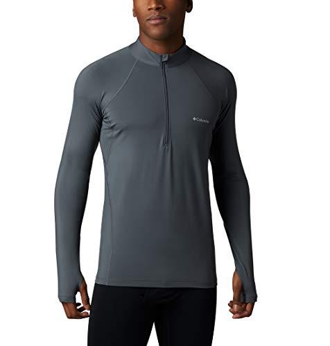 Columbia Midweight Strech LS Camiseta Térmica De Manga Larga, Hombre, Gris (Graphite), L