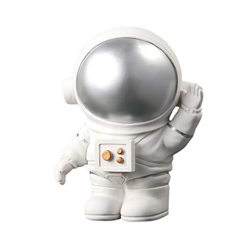 FiedFikt Mini astronauta de resina modelo de muñeca casa de muñecas adorno de decoración juguetes de niños regalo de niños astronauta juguetes de muñeca hogar adorno (A02)