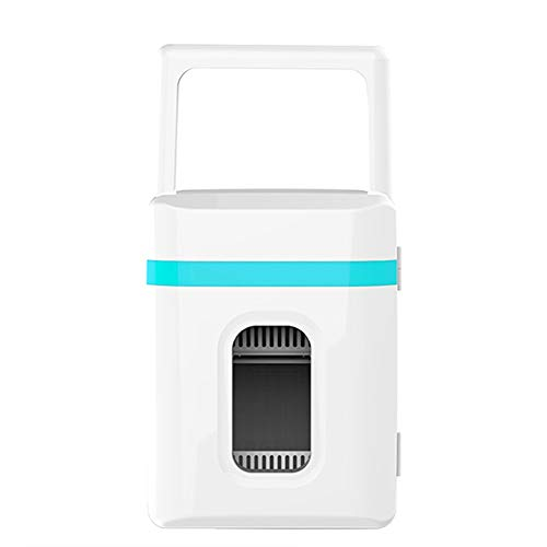 Small Refrigerator Car 10 Liters Freezer Car Home Dual-use Mini Portable Electronic Heating and Cooling Box Dormitory Travel Portable Small Refrigerator Can Put Skin Care Products (Color : Blue)