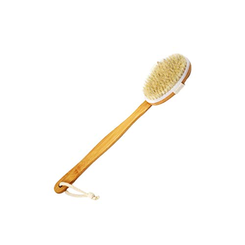 Artibetter Bath Body Brush Long Handle Bamboo Shower Brush Back Brush Back Scrubber for Elderly Adult Children Women