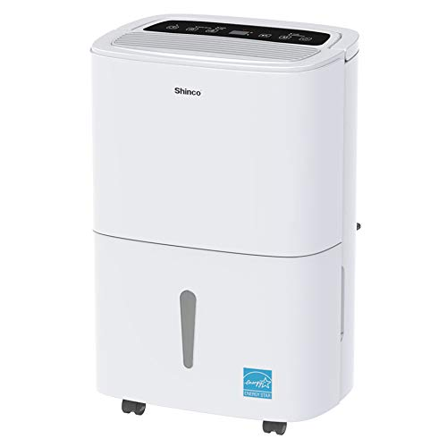 Shinco 5,000 Sq.Ft Energy Star Dehumidifier with Pump, Ideal for Large Living Room, Basement, Bedroom, Bathroom, Continuous Drain, Quietly Remove Moisture & Control Humidity - (70Pint with Pump)