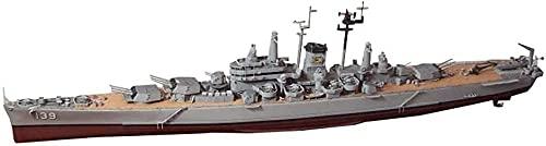 N-T Cruiser 3D Puzzles Kits de Modelos de plástico Escala 1/350 USS CA-139 Salem Des Moines-Class Cruiser Modelo Juguetes para Adultos y Regalo 24 6 X 2 6 Pulgadas