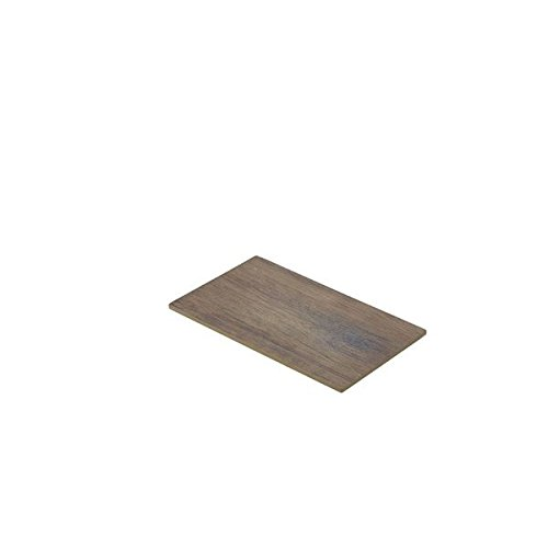 Genware nev-mel14-wd Holz Effekt Melamin-Platte, GN 1/4