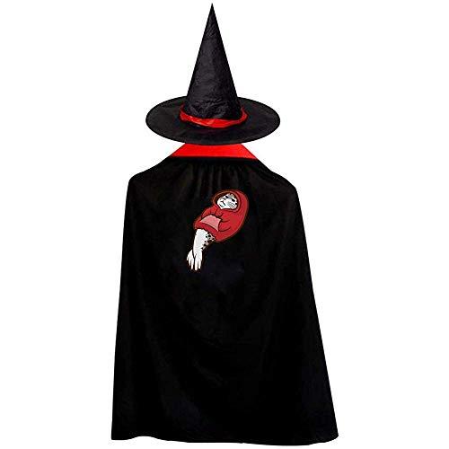 RJ Unique Zauberermantel,Siegel Mit Kapuze Halloween-Kostüme Hexenzauberer Umhang Mit Hut M