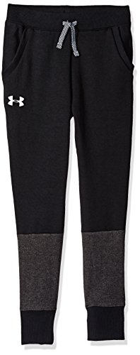 Under Armour Jungen Hose Unstoppable Double Knit Jogger, Black/White (001), YLG, 1318238