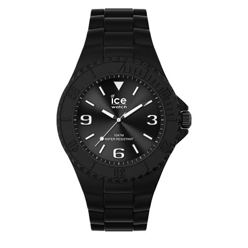 ICE-WATCH ICE Generation Black - Reloj Negro para Hombre con Correa de Silicona, 019155 (Medium)