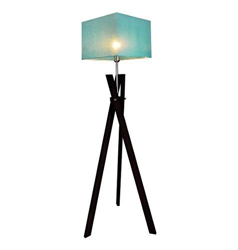 Stehlampe Stehleuchte HausLeuchten SL5TUD-WENGE aus Massivholz Deckenfluter Standleuchte (TÜRKIS)