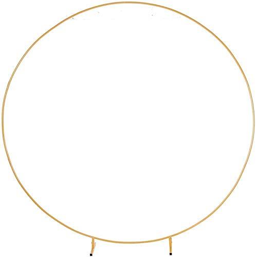 pinxiu Kreis Hochzeitsbogen Hintergrund Schmiedeeisen Regal – Dekorative Requisiten DIY Runde Party Hintergrund Regal Blume mit Rahmen