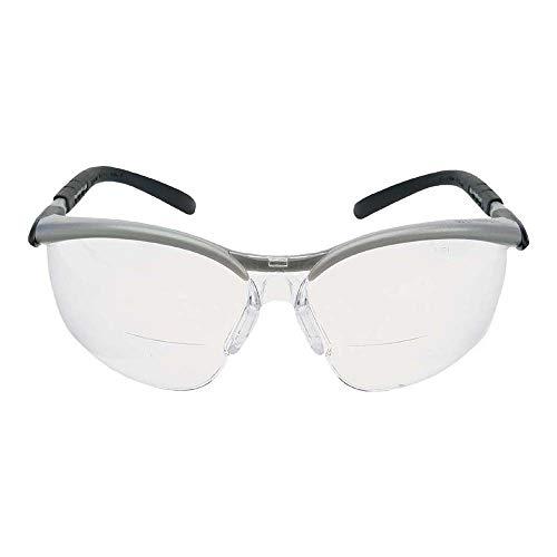 3M BX Readers Schutzbrille BXR02.0, AS/AF/UV, PC, klar, +2.0, Rahmen silber-schwarz