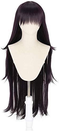 Yamia Mikan Tsumiki Cosplay Perücke für Danganronpa Damen Girls'Party Perücken mit kostenloser Kappe, 100 cm lang