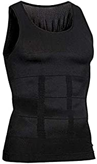 Mens Body Shaper Slimming Vest, Men's Elastic Sculpting Vest Thermal Compression Base Layer Slim Compression Muscle Tank Shapewear Corset for Molding muscles Lose weig