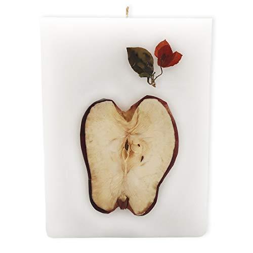 Belafi - Vela Decorativa Aromática Artesanal con Aroma a Manzana Canela para Aromaterapia y Decorar tu Hogar