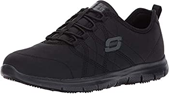 Skechers for Work Women s Ghenter Srelt Work Shoe Black 9 M US