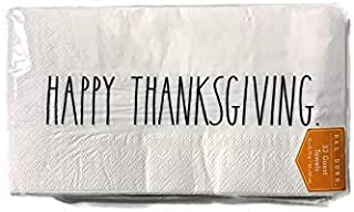Rae Dunn Beverage or Luncheon Napkins- Multiple Designs (Happy Thanksgiving- Guest Towels)